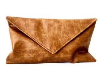 Caramel Envelope Clutch