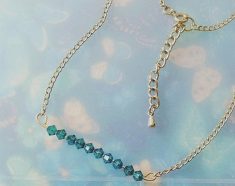 Swarovski crystal bar necklace