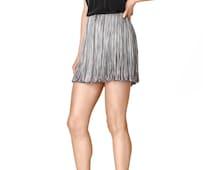 Mini Skirt, Tassel Skirt, Gray Skirt, Summer Skirt, Party Skirt, Short Skirt, Boho Skirt, Sexy Skirt, Hippie Skirt, Elastic Skirt