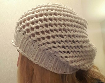 Lacy Lightweight Slouchy Knit Hat