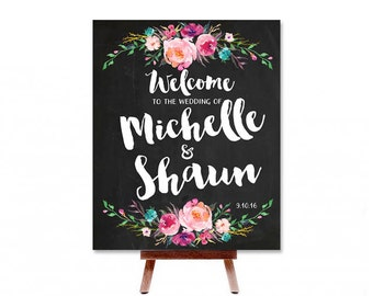 Welcome To Our Wedding CUSTOMIZED PRINTABLE Wedding Sign - Any Color Scheme or Theme! Welcome to the Wedding Of Printable Wedding Sign