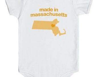 Made in Massachusetts (Blue, Orange & Pink)