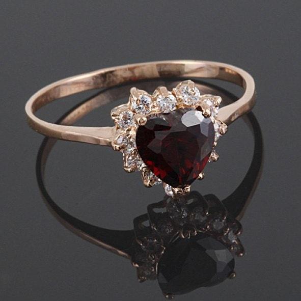 promise ring ring garnet ring halo ring gold promise