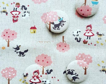 Handmade fabric covered buttons!