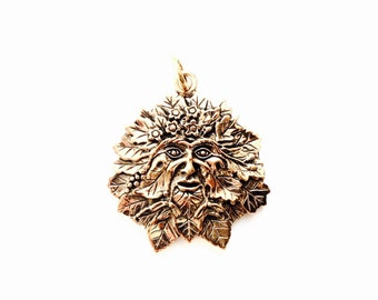 The Green Man VIKING KRISTALL pendant bronze