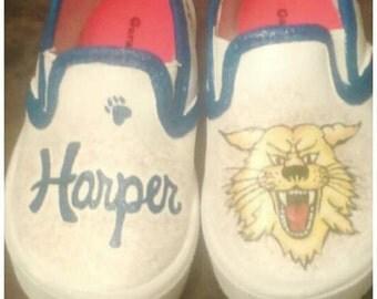 Baby UK Wildcats! University of Kentucky. Mascot. Painted shoes. custom