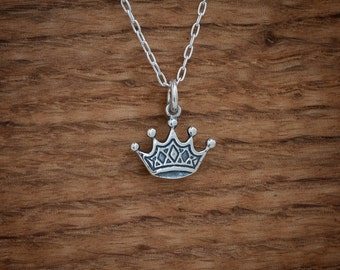 Crown Charm or Earrings My ORIGINAL - STERLING SILVER- Chain Optional