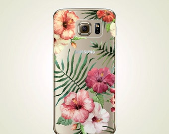 Vintage Floral TPU Soft case Samsung Galaxy S8, S8 plus, S7, S7 edge, S4 case, S5 case, S6 case, S6 edge, Note 3, Note 5 case, Note 8,