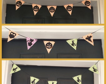 Halloween and Autumn mini paper banners