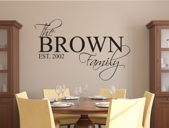 living room vinyl wall art family name wall decal custom family wall decal living 23671