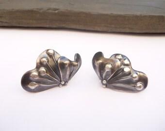 Butterfly Earrings, Silver Butterfly Earrings, Sterling Silver Earrings, Oxidized Silver Earrings, Stud silver Earrings, Handmade Earrings
