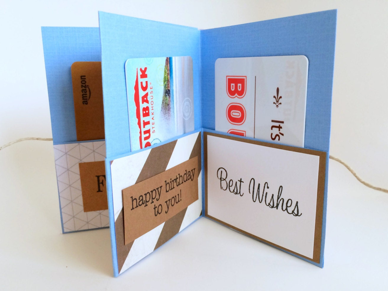 mini celebration gift card book gift card holder happy, Birthday card
