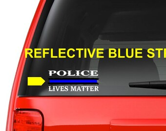 Police Lives Matter (M17) Thin Blue Line Cop Police Vinyl Decal Sticker Car Window