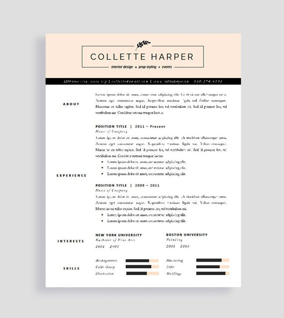 Professional Cv Template And Cover Letter Resume For Word