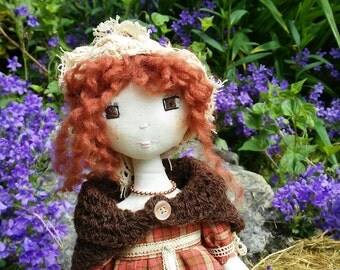 Lilly, Rag Doll, Handmade Doll, Textile Doll and Cloth Doll - Art Doll - rag doll