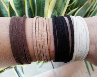 Pack-Wrap bracelets,Wrap bracelet, Faux Suede wrap bracelets.Bohemian bracelets