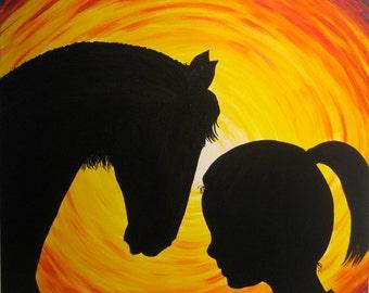 "acrylic painting "" true love """