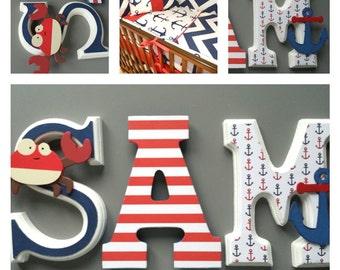 Custom wooden letters / NUrsery custom wall wood letters. 15cm.