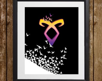 Mortal Instruments Wall Art - Angelic Power Rune - Cassandra Clare - The Infernal Devices - Book Lover Gift - Book Gift - Wall Decor