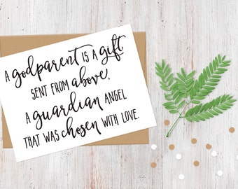 Will You Be My Godparents Card | 100% Recycled Card | A Godparent is a Gift