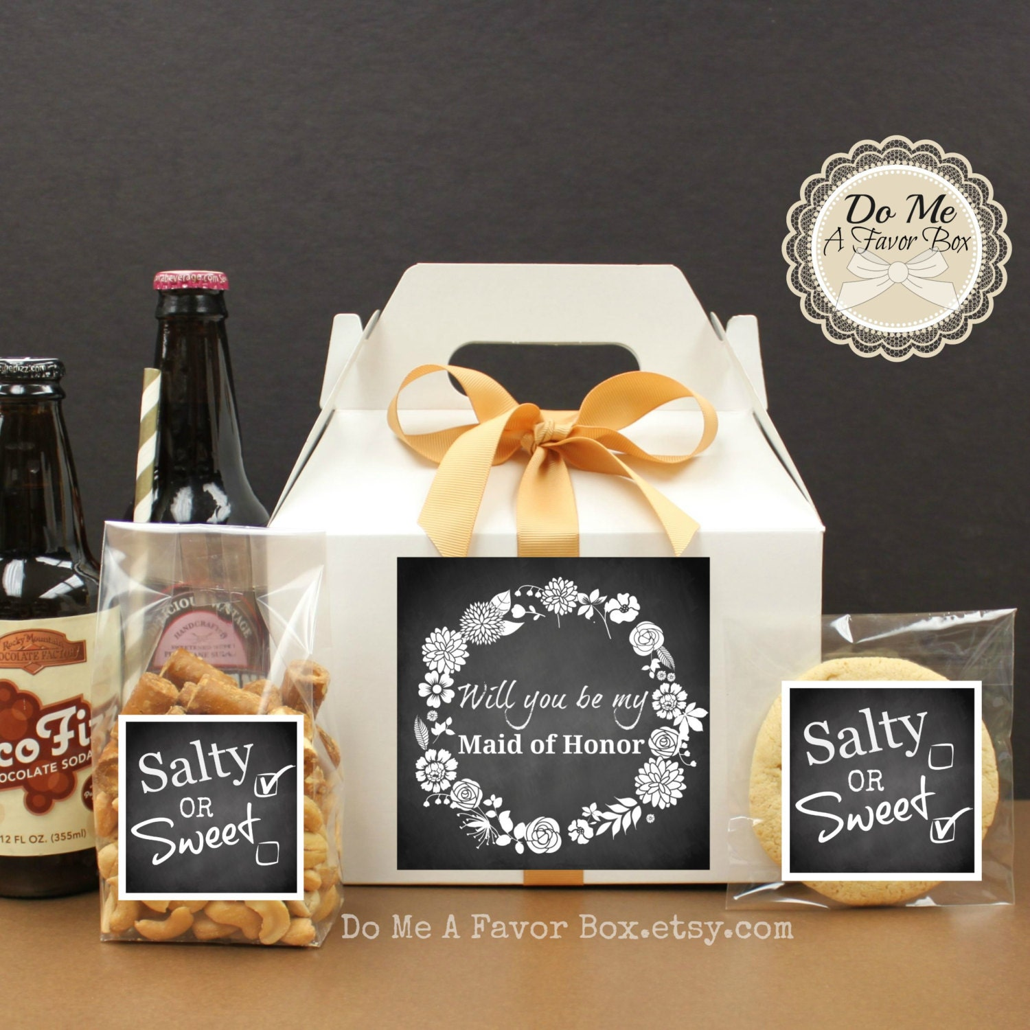 10 Will You Be My Maid Of Honor Gift Box With Labels