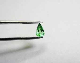 Natural 8 x 6mm. Pear Tsavorite Garnet, 1.07 ct. Loose Gemstone.