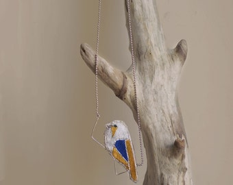 embroidered necklace Birdy