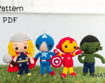 Amigurumi pattern : The Avengers