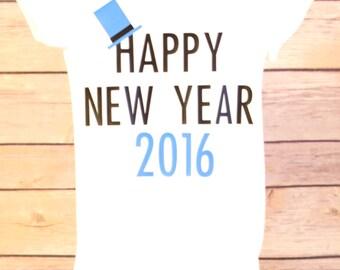 Happy New Year Shirt, New Years Shirt, New Year Baby, New Years Eve Baby Boy, Toddler Boy New Year, New Year Outfit, Happy New Year Shirt