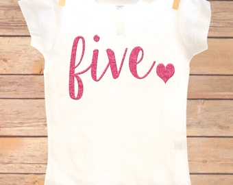 5th Birthday Outfit, Fifth Birthday Shirt, Five Birthday Shirt, Fifth Birthday Girl, Fifth Birthday Girl, Fifth Birthday Outfit Girl, Five