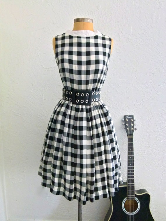 60s Gingham Style Dress
