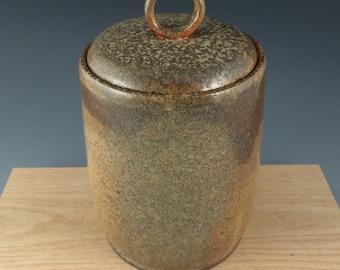 Ceramic Jar, Lidded Vessel, Pottery, Wood Fired