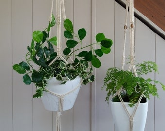 Coastal Natural Cotton Macrame Plant Hanger