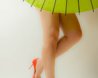 "Attractive Legs in Heels - ""Two Foot Parasol"" (9.5"" x 13.25"" Print on 14"" x 18"" Board) Limited Edition Fine Art Photograph"