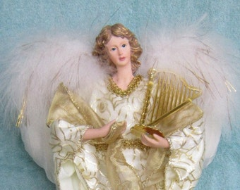 Collectible Gold Angel  with Harp