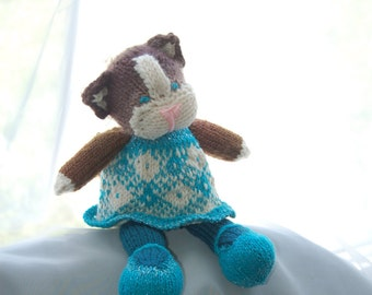 knitted stuffed cat