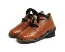 SALE 16% OFF* Handmade Dollhouse Miniature Vintage Leather Shoes