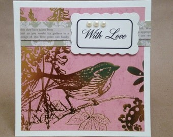 Set of 5 Handmade Greeting Cards for Many Occasions