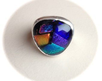 Sterling Silver Dichroic Ring-Size 7