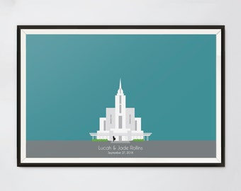 Payson Temple Cake Topper
