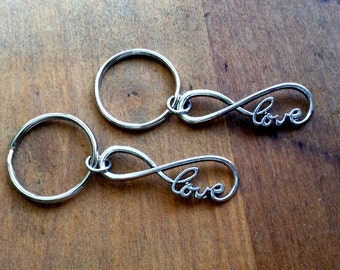 Infinity Keychain / His and Hers Matching /Couple Gift/ Gift for Her  Gift For Him / Gift of Love