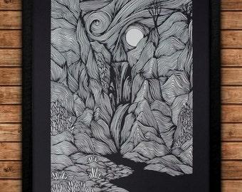 Landscape #2 - 18x24 Art Print