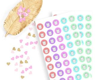 Garbage sticker, life planner sticker for kikki k, filofax or erin condren