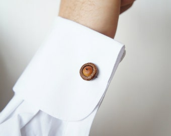 Acorn Cufflinks for him or for her