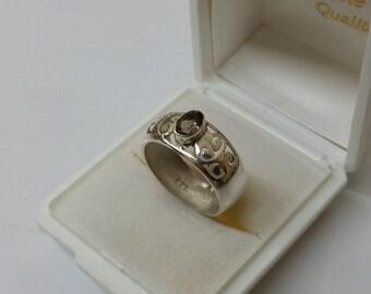 Nostalgic ring Silver 925 with smoky quartz SR711