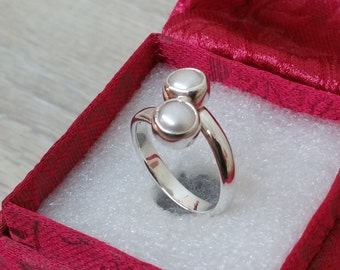 925 Pearl ring silver Pearl 17.3 mm silver SR194