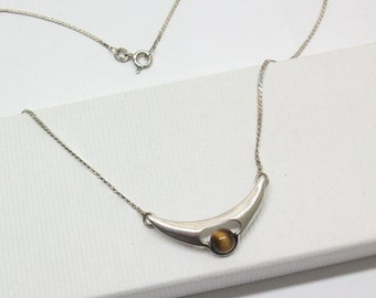 Necklace 925 Silver necklace with Tiger eye SK245