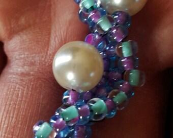 PEARLS OF SEA purple / teal