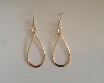 Goldfilled large loop dangle earring.