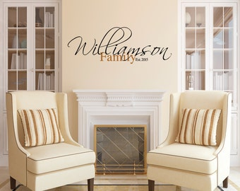 Last Name Wall Decal Etsy - Locations where sell wall decals
